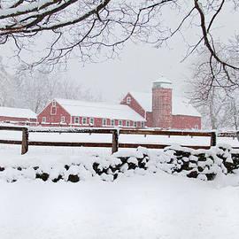 Winter New England Farm by Dale J Martin