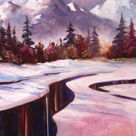 Winter River Patterns by Teresa Ascone