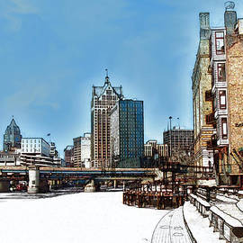 David Blank - Winter River Walk in Milwaukee Wisconsin