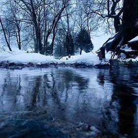 Winter Snow On Stream by John Magyar Photography
