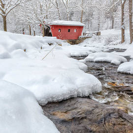 Winter Stream Square by Bill Wakeley