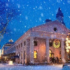 Joann Vitali - Winter Twilight in Quincy Market