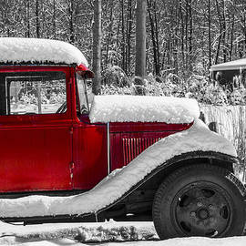 Winters Red Truck by Karol Livote