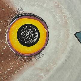 Wise Owl original painting by Sol Luckman