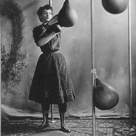 Woman Boxing Workout by Underwood Archives