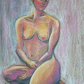 Woman Sitting on a Green Stool by Asha Carolyn Young
