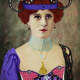 Woman wearing Headdress by Sandra Selle Rodriguez