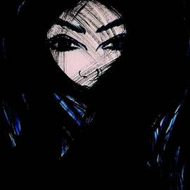 Woman With Blue Eyes 4 by Rain Art
