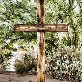 Wooden Cross by Photographic Art by Russel Ray Photos
