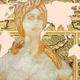 Word Map Of Cyprus And Aphrodite by Augusta Stylianou