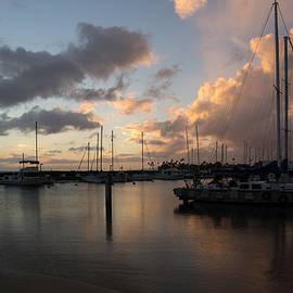 Georgia Mizuleva - Yachts and Clouds - Waikiki Honolulu Hawaii