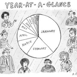 Year At A Glance--a Pie Chart Of The Months