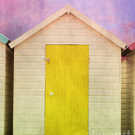 Yellow Beach Hut by Terri Waters