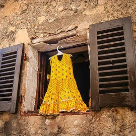 William Krumpelman - Yellow Dress in the Window