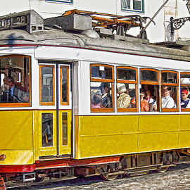 Yellow Electric Trolly of Lisbon by David Letts