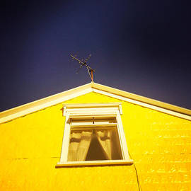 Yellow house in Akureyri Iceland