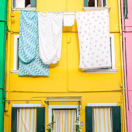 Yellow House of Burano by Kari Espeland