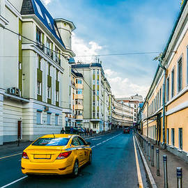 Yellow Taxi Of Moscow by Alexander Senin