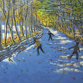 Yellow trees  Allestree Park by Andrew Macara
