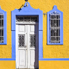 Yellow Walls And Moorish Architecture In Mexico by Mark E Tisdale