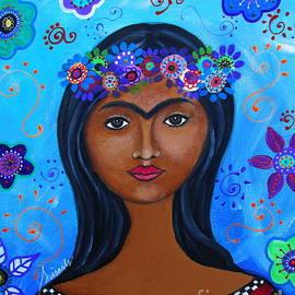 Young Frida Kahlo by Pristine Cartera Turkus