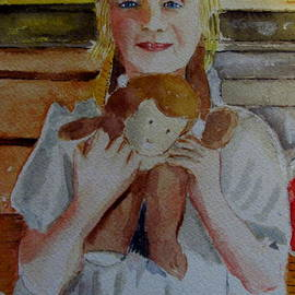 Young Girl With Stuffed Animal by Gary Kirkpatrick