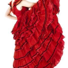 Vlad Baciu - Young lady in hispanic red dress 01