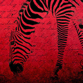Zebra Art Red - aa01tt01 by Variance Collections