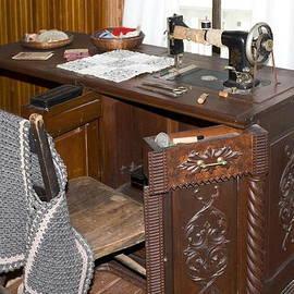 Antique Sewing Machine by Sally Weigand