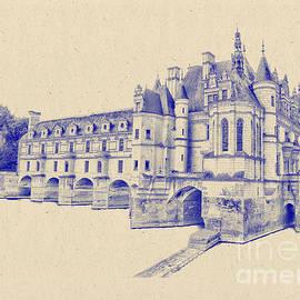 Nigel Fletcher-Jones - Chateau de Chenonceau Ink