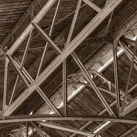 Closeup Of Trusses by Dennis Dame