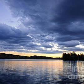 Dramatic sunset at lake 2 by Elena Elisseeva