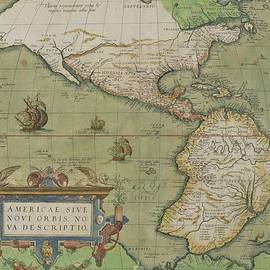 Abraham Ortelius - Map of North and South America