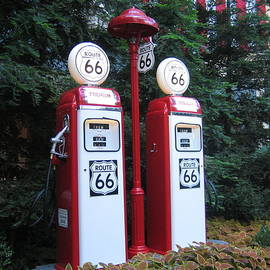 Route 66 Gas Pump by John Shiron