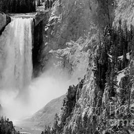 Sebastian Musial - Yellowstone Waterfalls in Black and White