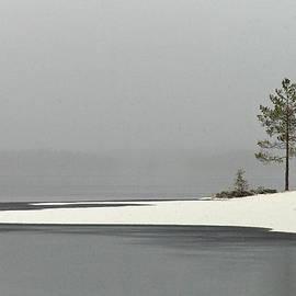 Haukkajarvi first snow by Jouko Lehto