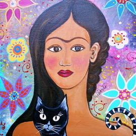 Frida And Her Cat by Pristine Cartera Turkus