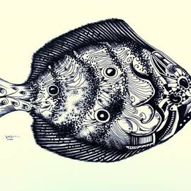 Abstract Gulf Flounder by J Vincent Scarpace