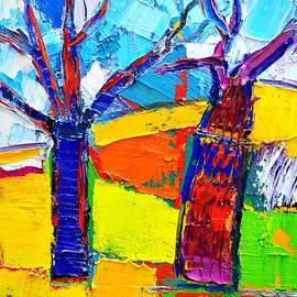 Ana Maria Edulescu - Abstract Landscape - Dancing Trees