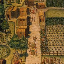 Algonquian Village 1585 by Photo Researchers