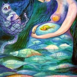 Angels Of Zodiac Pisces The Fishes by Elisheva Nesis