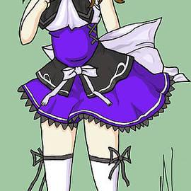 Anime Girl Fan Art Color by Ashley Rommel