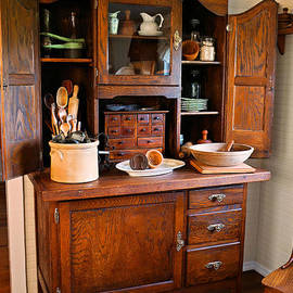 Carmen Del Valle - Antique Hoosier Cabinet