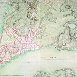 English School - Antique Map of New York