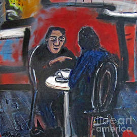 David Abse - At the cafe