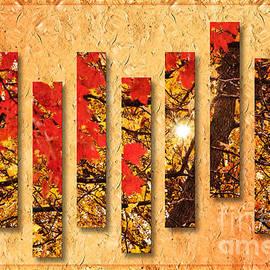 Andee Design - Autumn Sunrise Painterly Abstract
