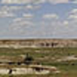 Badlands Panorama by Michael Flood