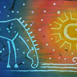 Enialis Best Silk - BaRuCaj - A Full Of Love Blue Horse Standing On The Seashore