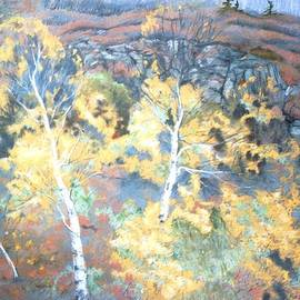 Birches by the Bay of Fundy by Rose Wark