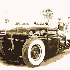 Black And White Hot Rod by Steve McKinzie